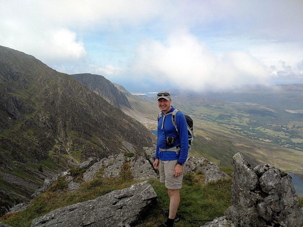 Me on the summit ridge of Cadair Idris