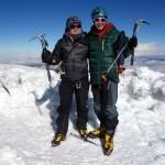 Me and Edita on the summit of Chimborazo (6310m)