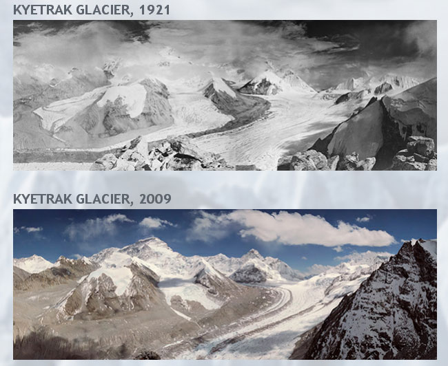 Evidence of glacier erosion in the Himalayas, taken from the GlacierWorks website
