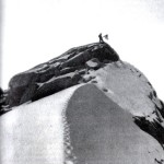 Frederick Cook's infamous photo of Edward Barrill standing on a rock peak which he claimed was Denali's summit first appeared in Harper's Magazine