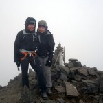 Me and Edita on the summit of Corazon (4790m)