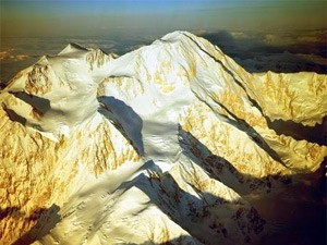 Bradford Washburn's aerial photograph of Denali with the West Buttress left of centre (Photo: American Alpine Club)