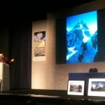"Doug Scott describes his route up Baintha Brakk (""The Ogre"") at the Adventure Travel Show"