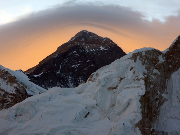 Morning glow over Everest (Photo: Mark Dickson)