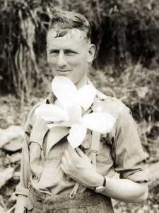 Frank Smythe displays his penchant for wild flowers (Photo: Royal Geographical Society)