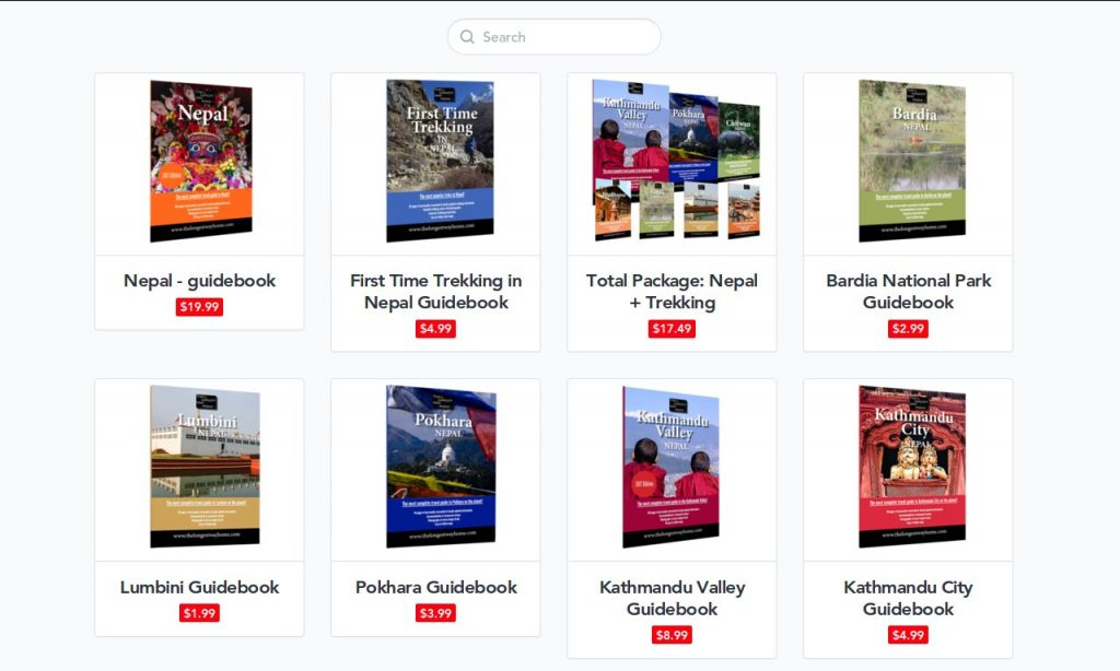 The Longest Way Home Guidebooks cover a number of different areas, but the Nepal guidebook combines all of them in a single volume