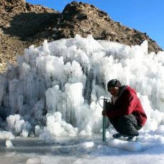 In Ladakh two men tackle climate change by making artificial glaciers