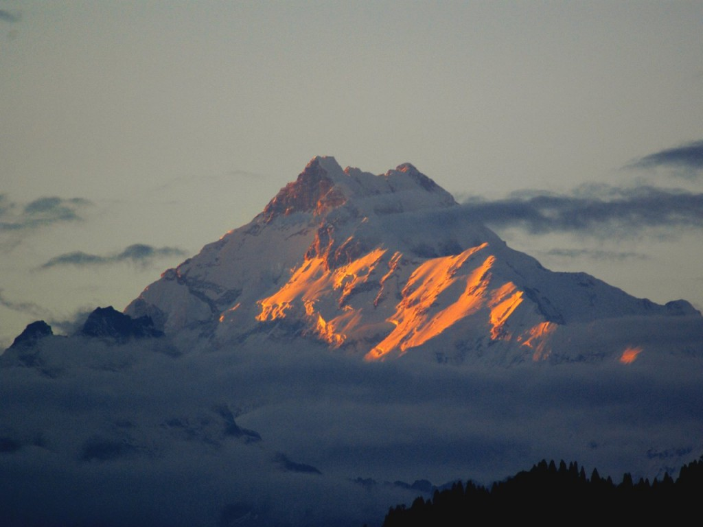 Kangchenjunga from Gangtok in Sikkim, Northeast India (Photo: Ian Horrell)