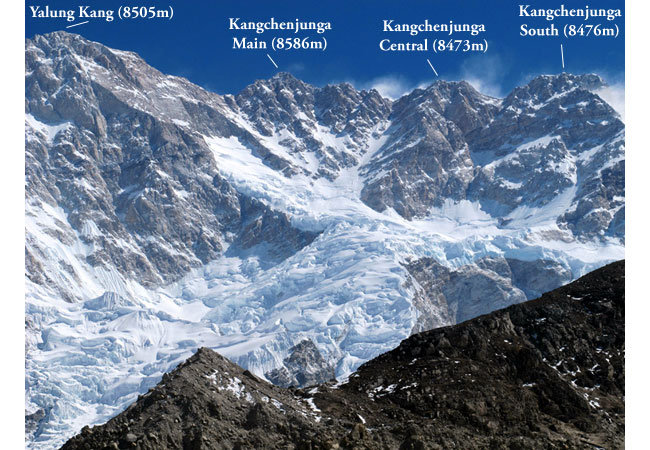 Southwest Face of Kangchenjunga (Photo: Anselm Murphy)