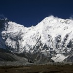 Everest's Kangshung Face, with Lhotse on the left and the South Col between (Photo: Cathy O'Dowd)