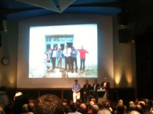 The 1988 Everest Kangshung Face expedition team reunited after 25 years: Ed Webster, Paul Teare, Stephen Venables and Robert Anderson