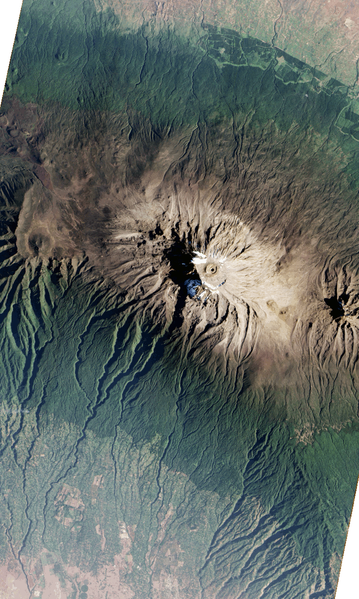 Aerial view of Kilimanjaro, taken by NASA's Earth Observing-1 satellite (Photo: NASA Earth Observatory)