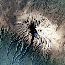 The climate zones of Kilimanjaro from space
