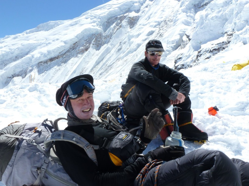 Team mate Robin aptly captioned this photo of me resting at Camp 1 on the way down from Manaslu 'Mark's buggered' (Photo: Robin Owens)