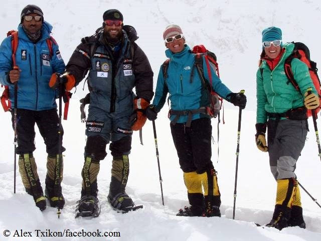 The successful Nanga Parbat summit team of Ali Sadpara, Alex Txikon, Simone Moro and Tamara Lunger (Photo: Alex Txikon)