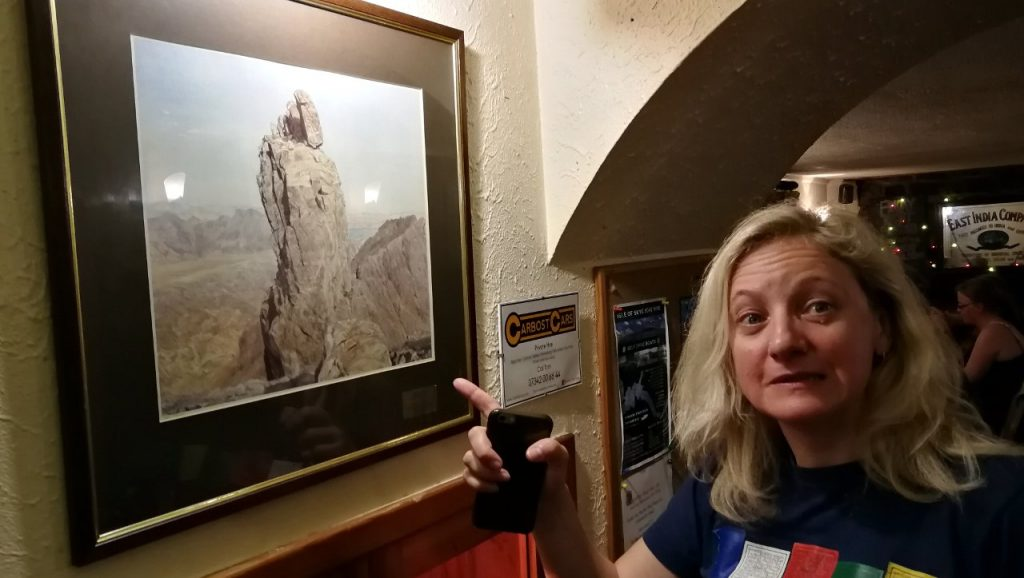 At the Old Inn, Carbost, Edita wonders how on earth we're going to get up that thing
