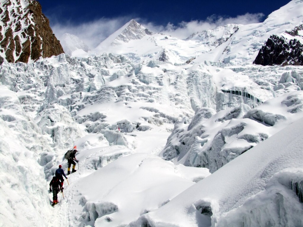 Gasherbrum II in Pakistan is one of the beautiful 8000m peaks you can climb as preparation for Everest