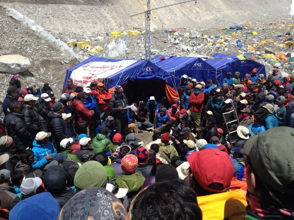 Insurance cover was one of the demands Sherpa protesters issued to government during the days following the tragedy (Photo: Jay Beaudoin)