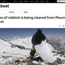 Reality Check: Will there be a huge clear up of garbage on Everest this year?