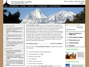 The new Responsible Travellers website