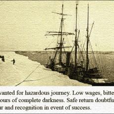 Safe return doubtful: Was Shackleton's advert apocryphal?