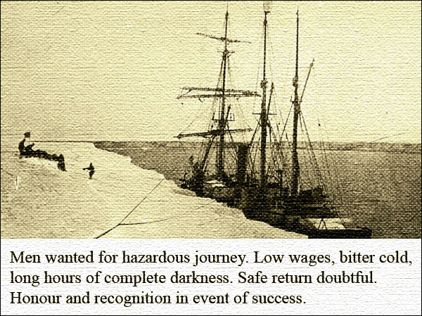 Had it ever existed Shackleton's advert might have looked like this (Photo: Alfred Wegener Institute for Polar and Marine Research)