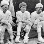 Four Sherpa survivors of the 1934 nightmare on Nanga Parbat - Da Thundup, Pasang Kikuli, Kitar and Pasang, taken by a member of the 1934 German expedition after they descended
