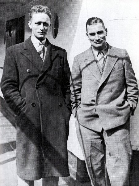 Eric Shipton and Bill Tilman leaving England for Nanda Devi in 1934 (Photo: Eric Shipton)