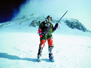 Stephen Venables returns to the South Col after his amazing solo ascent of Everest by the Kangshung Face and without supplementary oxygen in 1988 (Photo: Ed Webster)
