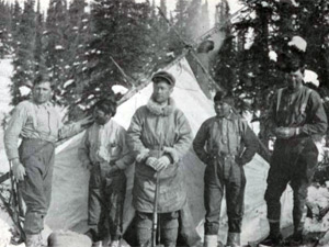 The team to make the first ascent of Denali in 1913 included Robert Tatum (left), Harry Karstens (middle) and Walter Harper (right) (Photo: Hudson Stuck)