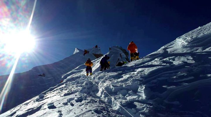 Manaslu's summit crown this year (Photo: Seven Summits Treks)