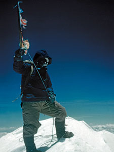 The summit of Everest, 1953, Hillary got one of Tenzing, but Tenzing didn't get one of Hillary (Photo: Royal Geographical Society)