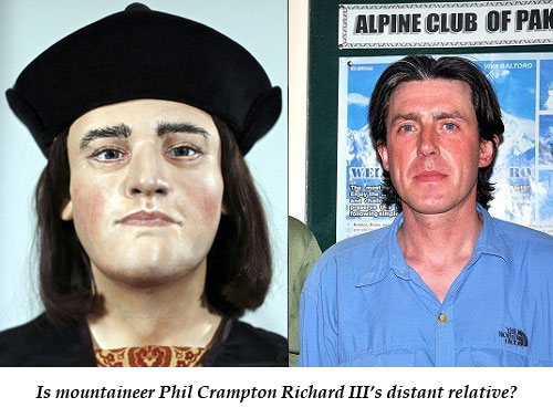 Is the mountaineer Phil Crampton Richard III's distant relative?