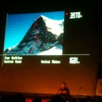 Ueli Steck talks about the North Face of the Eiger at the Royal Geographical Society in London